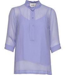 tul ss blouse blouse lange mouwen paars second female