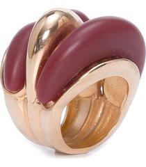 anel feminino veredas - vermelho