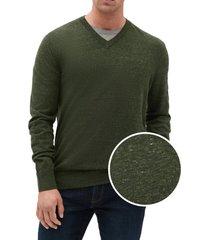 chaleco algodón cuello v verde gap