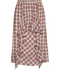 joan knälång kjol röd munthe