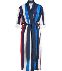 jacquard twill belted robe
