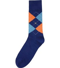 burlington socks manchester socks - blue & aqua 20182-6058