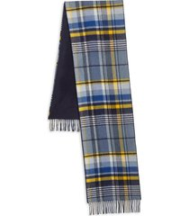 saks fifth avenue x johnstons of elgin men's double face merino wool & cashmere scarf - navy
