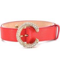 jimmy choo madeline crystal-embellished belt - orange