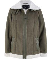 giacca in finto agnello (verde) - bpc bonprix collection
