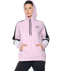 buzo lila-azul under armour rival fleece lc novelty
