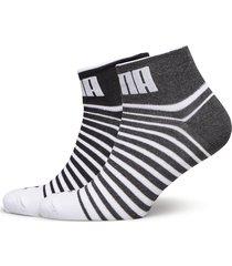 puma unisex quarter 2p underwear socks regular socks grå puma