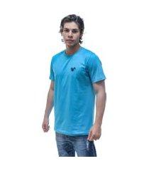 camiseta vitoriano classic - azul claro