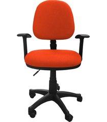 silla oficina lizza media naranja con brazos  ref: 2006