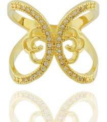 anel dona diva semi joias largo flor dourado