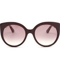 gucci gucci gg0325s burgundy sunglasses