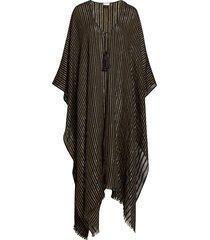 women's saint laurent metallic stripe poncho
