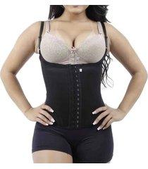 cinta modeladora borzzi wear colete ajustã¡vel preto - preto - feminino - dafiti