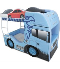 beliche cama carro cegonha azul