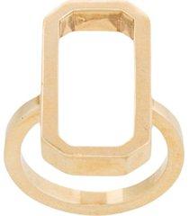 julia davidian regular octagon ring - metallic