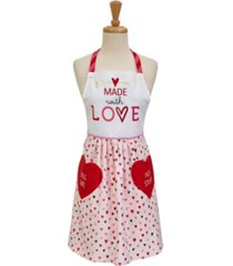 design imports made with love print skirt apron