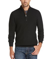 joseph abboud black mock-neck 1/2 zip sweater
