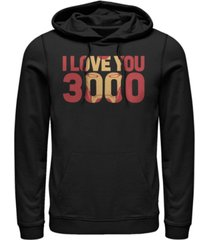 marvel men's avengers endgame i love you 3000 iron man, pullover hoodie