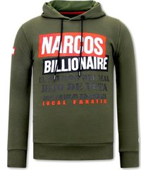 sweater local fanatic hoodie print narcos billionaire
