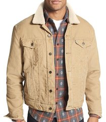 levi's men's corduroy sherpa trucker button up jacket regular fit chino