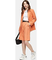 orange pleated shorts - orange