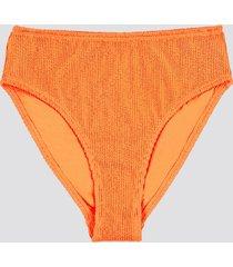 high waist bikinitrosor i crepe-kvalitet - neonorange