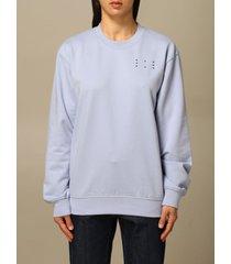 mcq alexander mcqueen mcq sweater ic-0 by mcq crewneck sweatshirt in cotton with logo