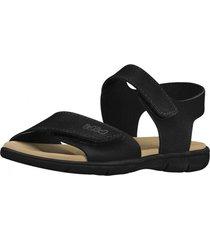 sandalia cuero basic sandals mini negro bibi