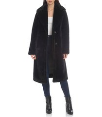 oversized-fit bonded faux fur midi coat