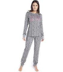 pijama inspirate de inverno all day feminino - feminino