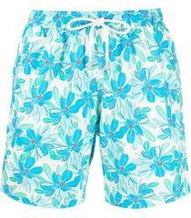 bluemint floral-print drawstring swim shorts - white