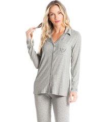pijama longo abotoado letícia