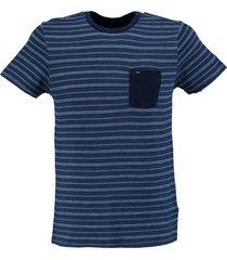 petrol stevig zacht blauw slim fit shirt valt kleiner