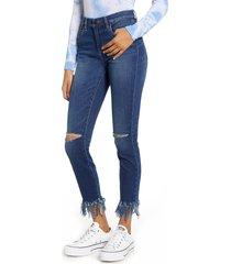 women's blanknyc the bond ripped fray hem skinny jeans