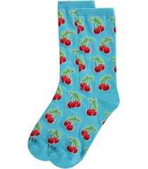 memoi cherries women's novelty socks