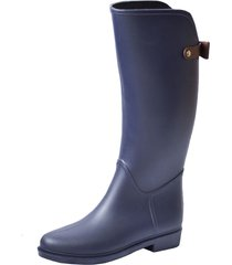 botas lluvia impermeable golden bowtie bottplie - azul / cafe