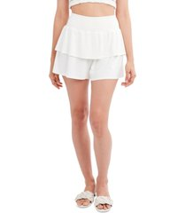 bcbgeneration woven tiered shorts