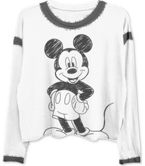 freeze 24-7 trendy plus size mickey-print ringer t-shirt