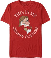disney men's snow white and the seven dwarfs grumpy halloween costume short sleeve t-shirt