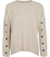brunello cucinelli multi-button sleeve sweater