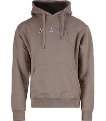 mael studios hoodie met logo taupe