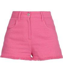msgm cotton and linen shorts