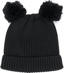 mini rodini knitted beanie - black