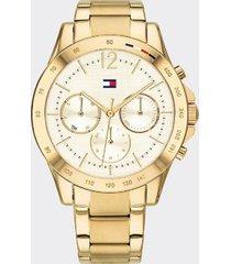 tommy hilfiger women's gold-plated bracelet watch gold -