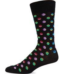 paul smith men's dotted crew socks - black multi