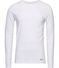 bhnicolai tee l.s. noos t-shirts long-sleeved vit blend
