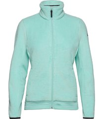 w feather pile jacket sweat-shirts & hoodies fleeces & midlayers blå helly hansen