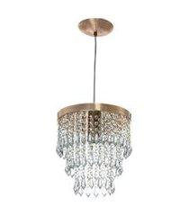 lustre pendente de cristal acrílico manucrillic cobre