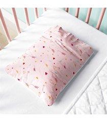 fronha de beb㪠 rosa coraã§ã£o e raminho estampa grã£o de gente rosa - rosa - menina - dafiti