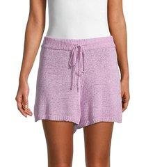 allison new york women's textured knit shorts - navy - size l